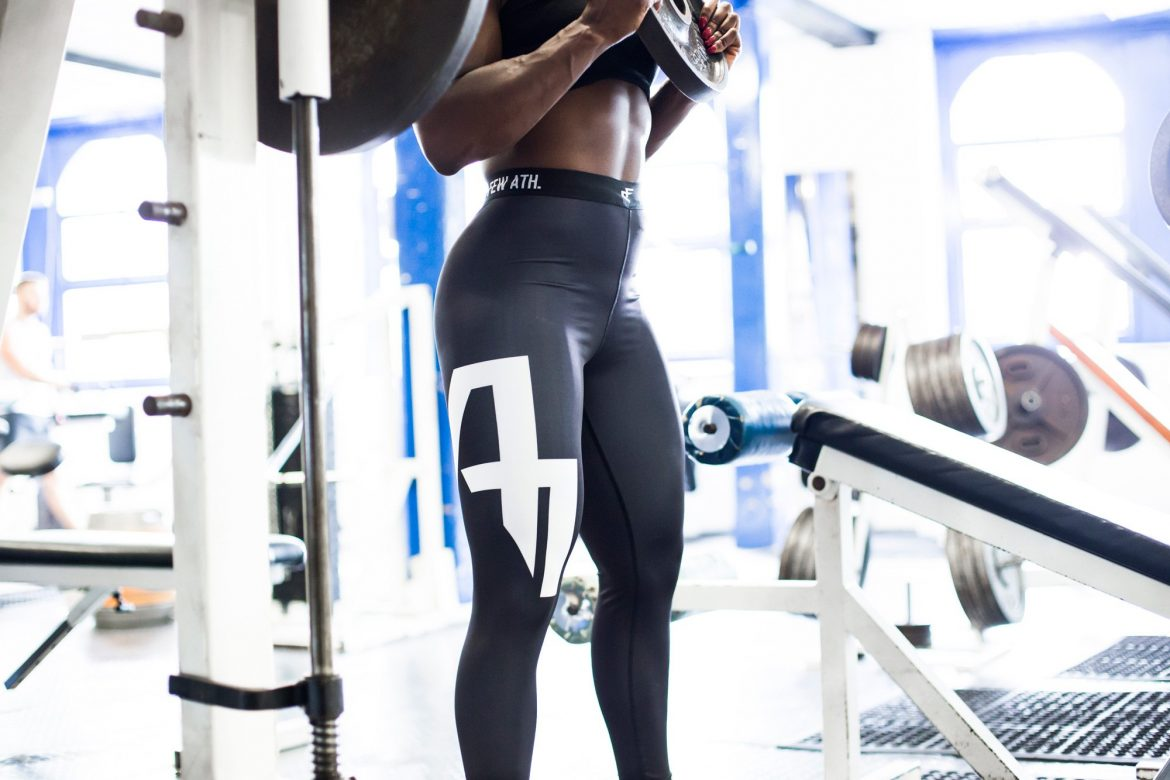 Product photography of black leggings for Chosen Few Athletics - By Paris Penny - commercial photographer Bristol